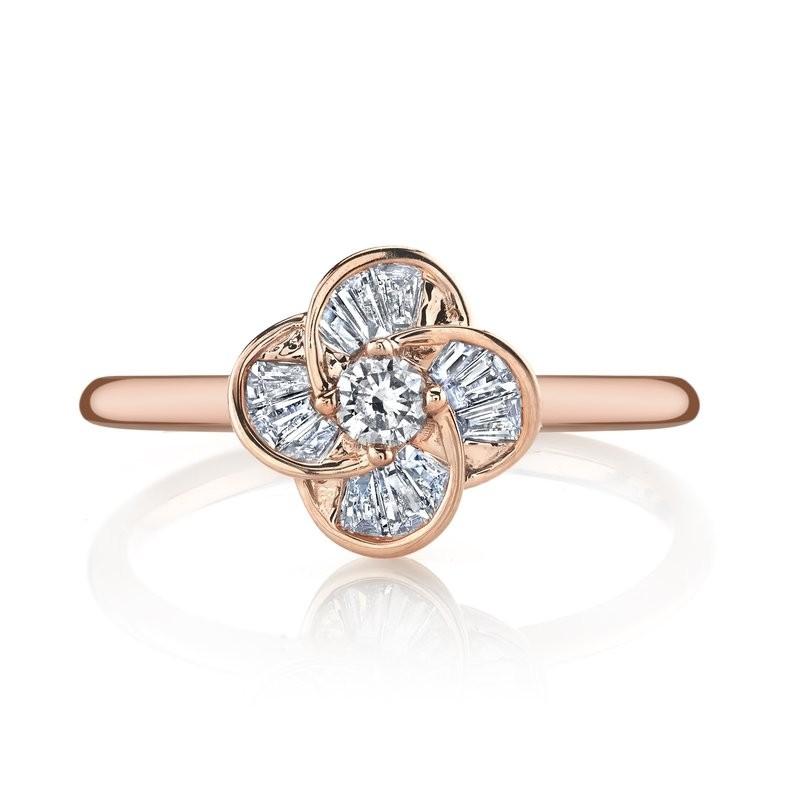 MARS Fashion Ring, 0.08 ct rd. 0.18 ct dia bg.