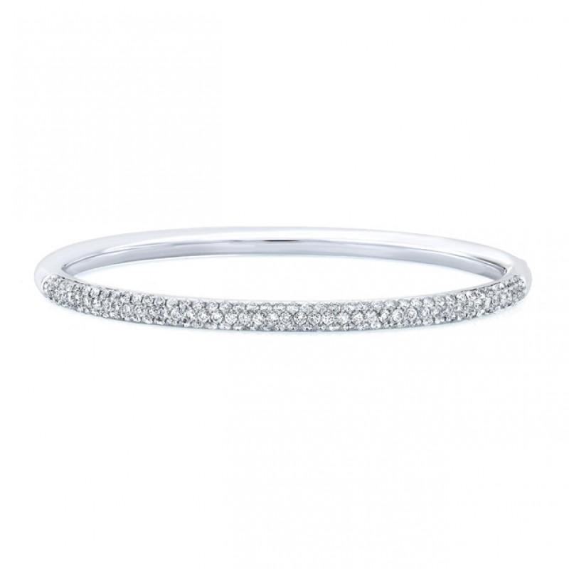 18k Micropavé Diamond Bangle