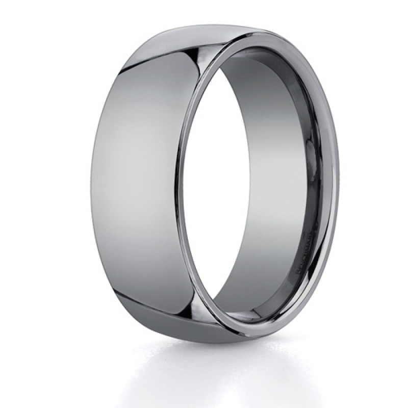 Benchmark 8mm Classic Flat Tungsten Carbide Ring