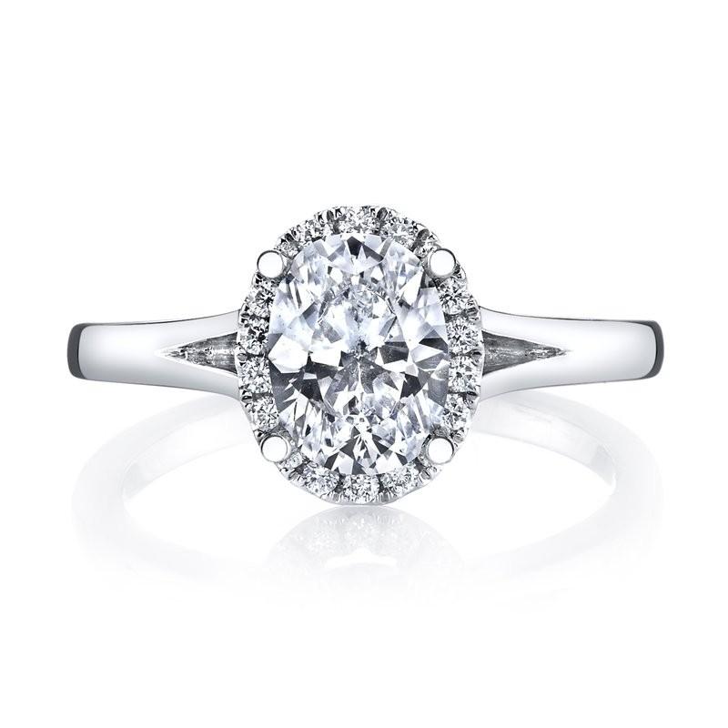 MARS 26513 Diamond Engagement Ring 0.13 Ctw.