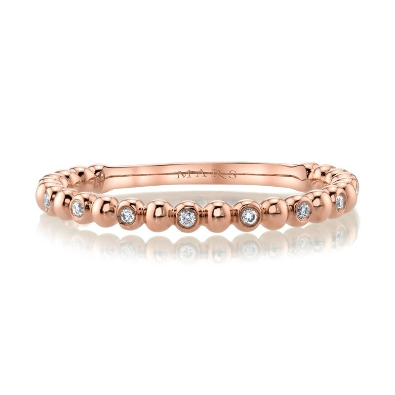 MARS Diamond Beaded Stackable, 0.06 Ctw