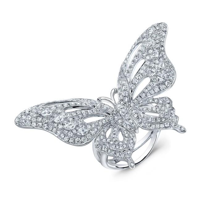 Diamond Butterfly Ring