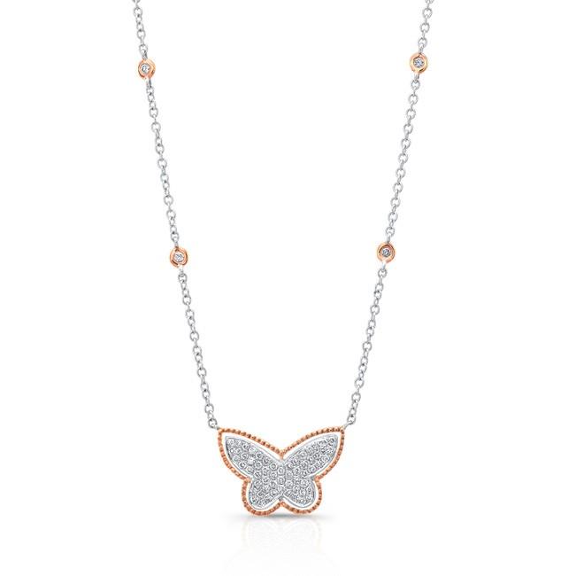 18K Butterfly Necklace