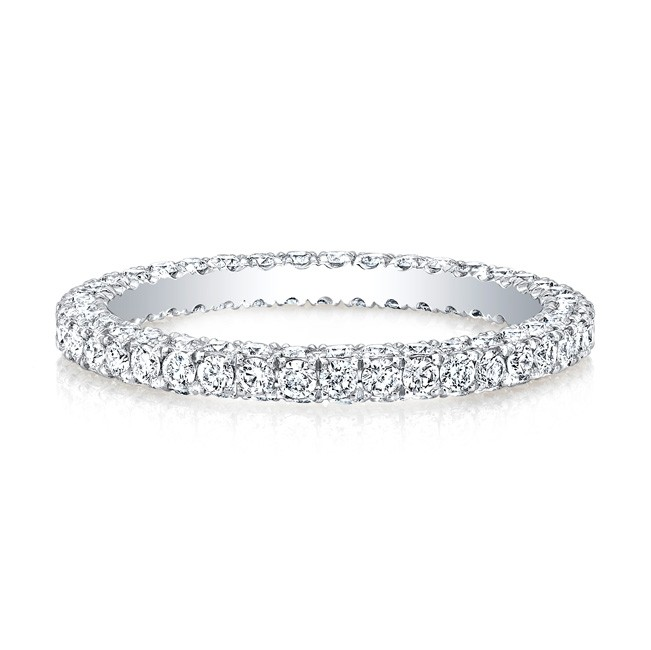 18k White Micropave Eternity Band