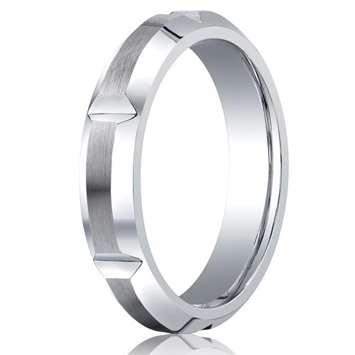 Benchmark 5mm Slotted Cobalt Chrome Ring with Polished Beveled Edges