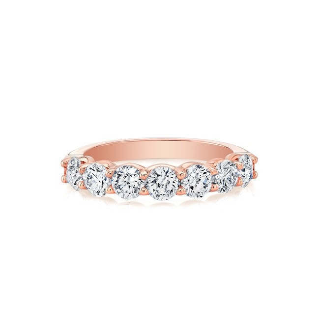 18k Rose Seven-Stone Diamond Ring