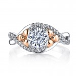 MARS Diamond Engagement Ring 0.29 Ctw.