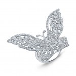 Diamond Butterfly Ring