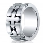 Benchmark 10mm Cobalt Chrome Ring with Cross Patterns