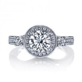 Diamond Engagement Ring 0.76 ct tw