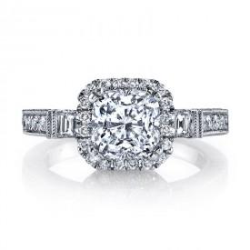 Diamond Engagement Ring 0.77 ct rd 0.13 ct bg