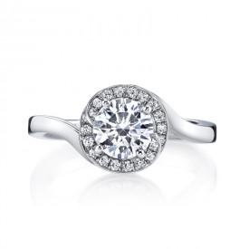 MARS Diamond Engagement Ring, 0.15 Ctw.