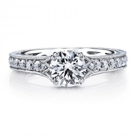 MARS Diamond Engagement Ring 0.51 Ctw.