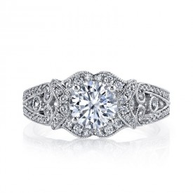 MARS Diamond Engagement Ring, 0.64 Ctw.
