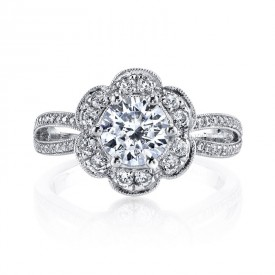 MARS Diamond Engagement Ring 0.44 Ctw.