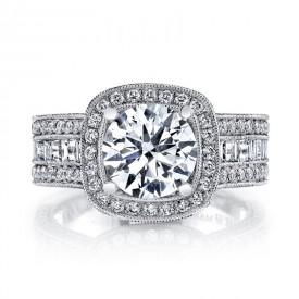 MARS Diamond Engagement Ring 0.88 Ct Rd, 0.71 Ct Bg.