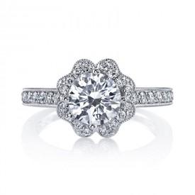 MARS Diamond Engagement Ring 0.58 ct tw