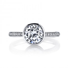 MARS Diamond Engagement Ring 0.12 Ctw.