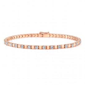 Alternating Diamond Tennis Bracelet