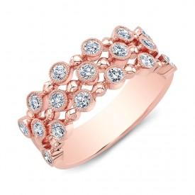 18k 3-Stack Diamond Ring