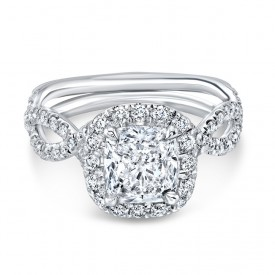 Infinity Diamond Halo Ring