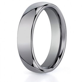 Benchmark 6mm Classic Flat Tungsten Carbide Ring