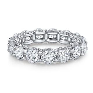 Platinum Floating Eternity Band with Micro Pavé Diamonds