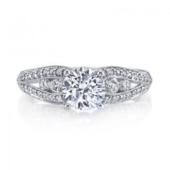 MARS Diamond Engagement Ring 0.49 ct tw