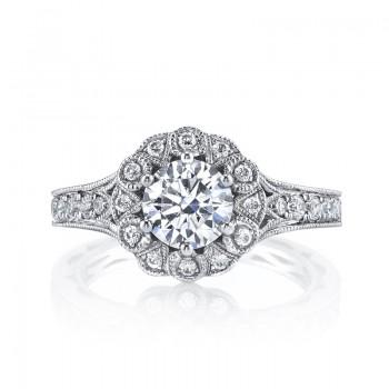 MARS Diamond Engagement Ring, 0.57 Ctw.
