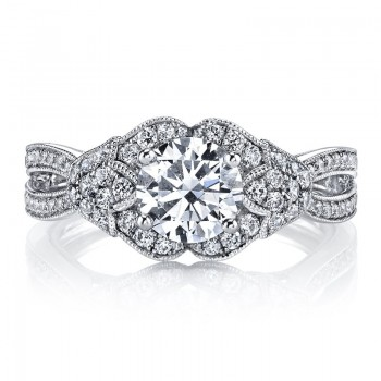 MARS Diamond Engagement Ring, 0.67 Ctw.