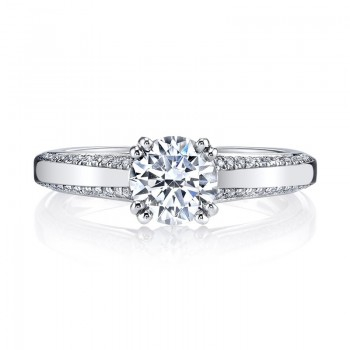 MARS Diamond Engagement Ring 0.21 Ctw.