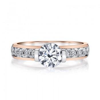 MARS Diamond Engagement Ring 0.37 Ctw.