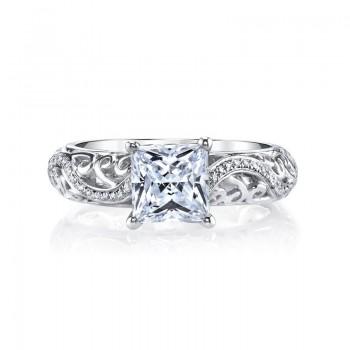 MARS Diamond Engagement Ring, 0.18 ct tw