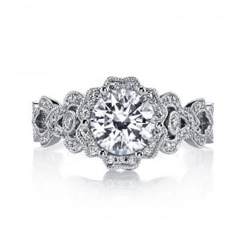 MARS Diamond Engagement Ring 0.38 Ctw.
