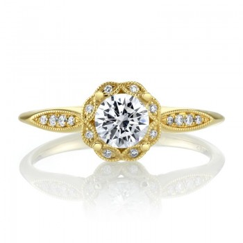 MARS Diamond Engagement Ring, 0.08 Ctw.