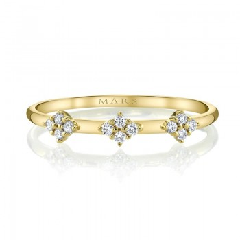 MARS Stackable Ring, 0.11 Ctw.