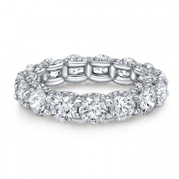 Platinum Floating Eternity Band with Micro Pavé Diamonds