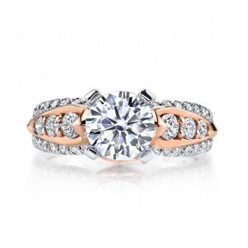 MARS Diamond Engagement Ring, 0.82 Ctw.