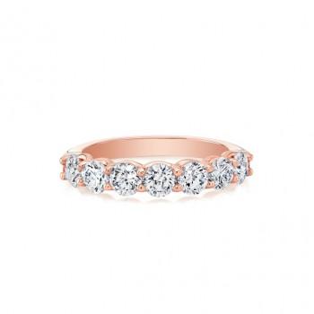 18k Rose Seven-Stone Diamond Ring